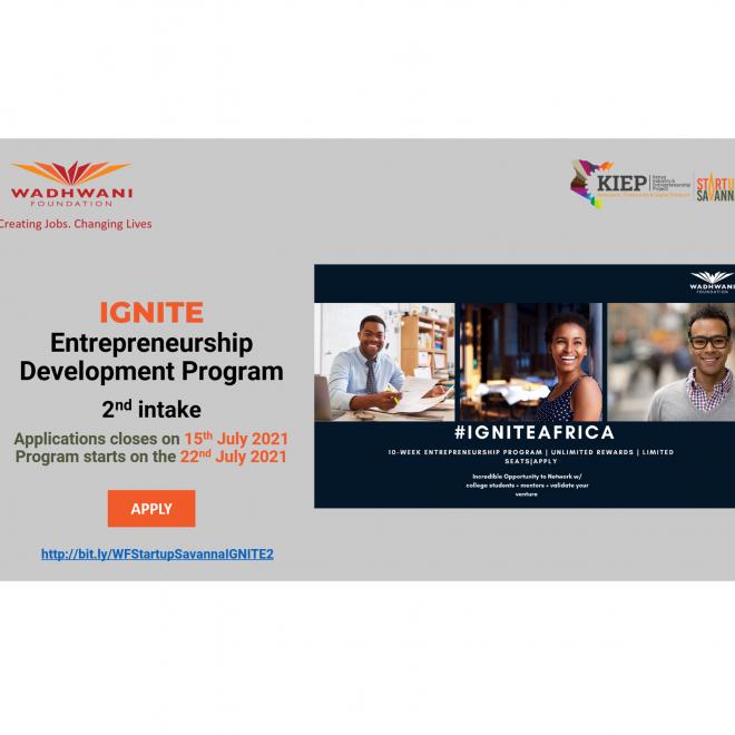 StartupSavanna - WF IGNITE Entrepreneurship programme - Social media July - website